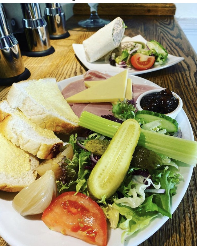 Sandwiches and ploughman's lunch at barge Inn Battlesbridge
