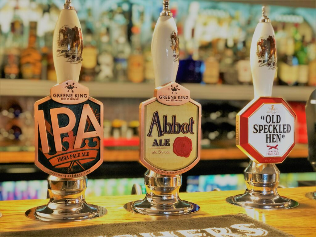barge inn battlesbridge real ales greene King IPA Abbot Ale Old speckled Hen