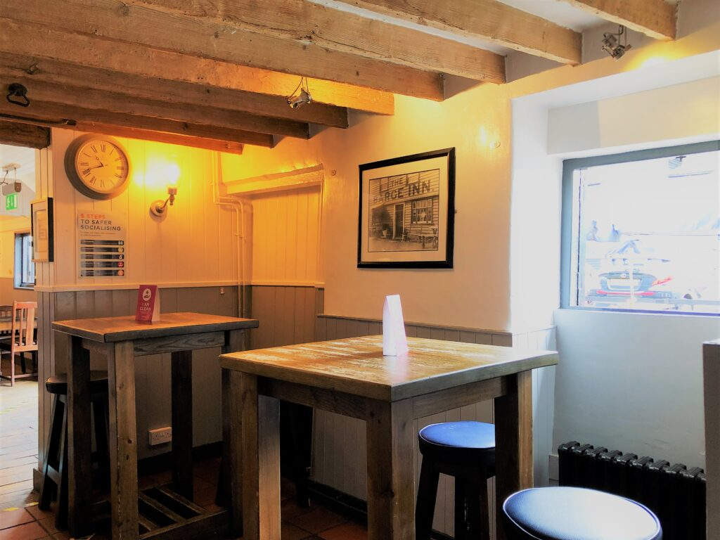 drinking and dining tables at The Barge Inn Battlesbridge Essex