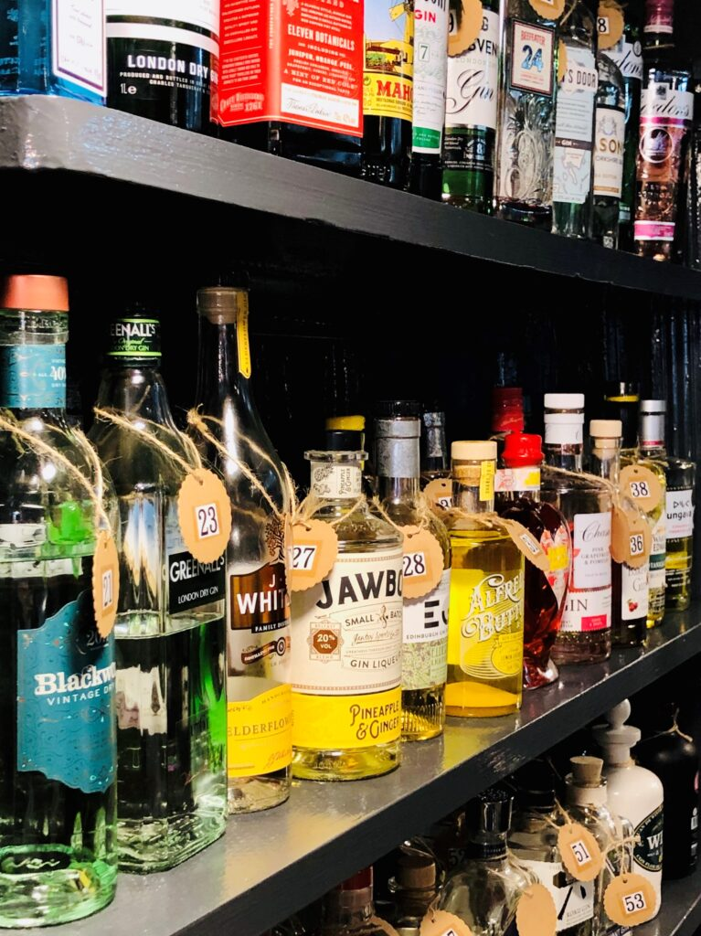 Exceptional Gin Bar at the Barge Inn Battlesbridge Essex