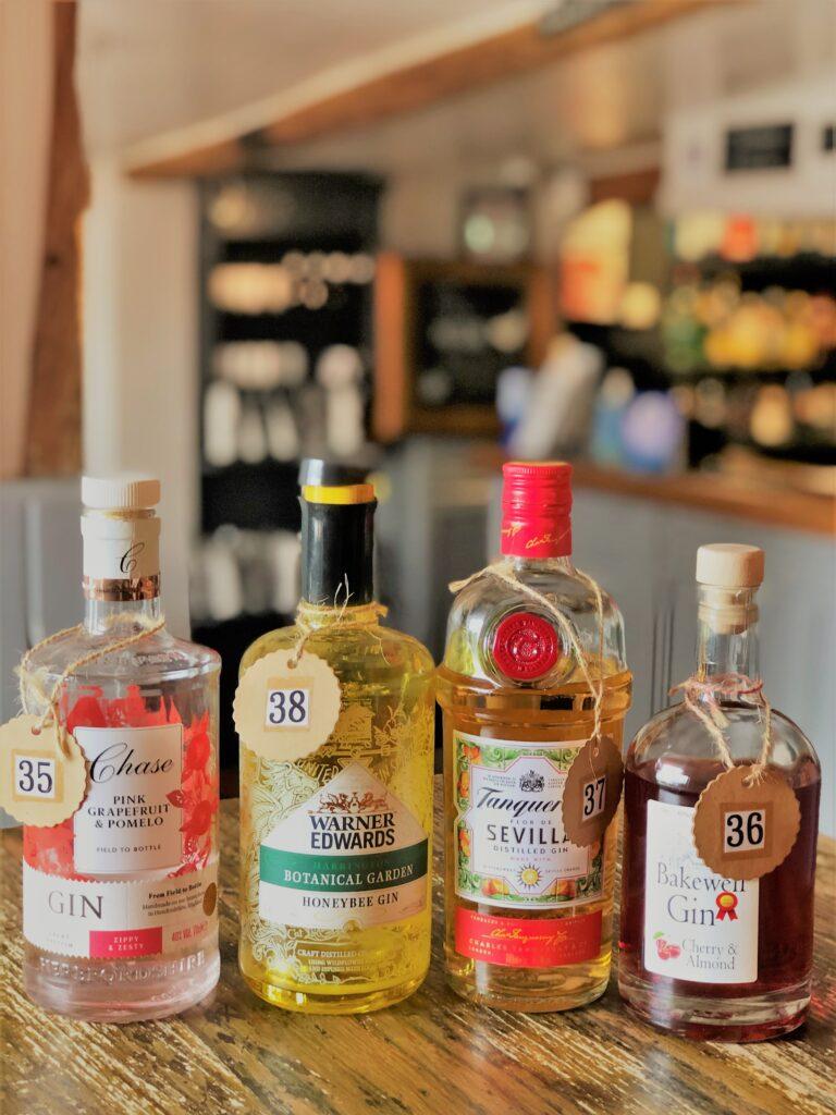 Exceptional Gin Bar at the Barge Inn Battlesbridge Essex Chase Warner Edwards Bakewell Gin