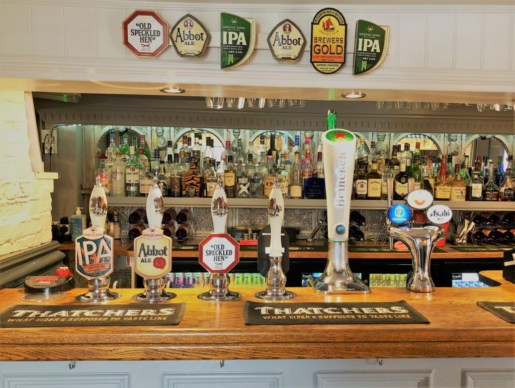 the bar at Barge Inn Battlesbridge Essex