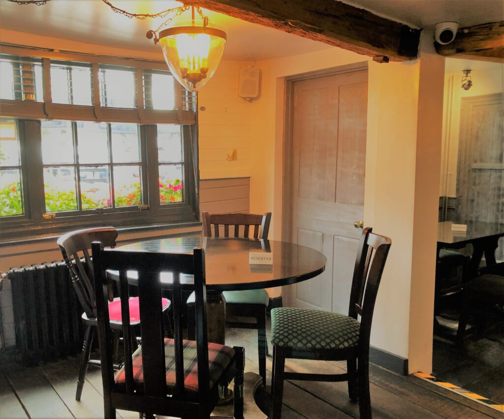 Dining room with feature light Barge Inn Battlesbridge Essex